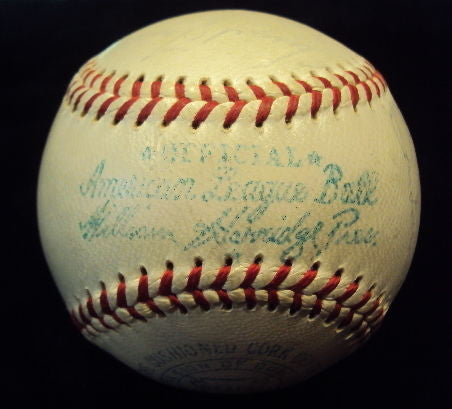 1958 Original New York Yankees World Series Signed Baseball with 25 Autographs - $15K VALUE