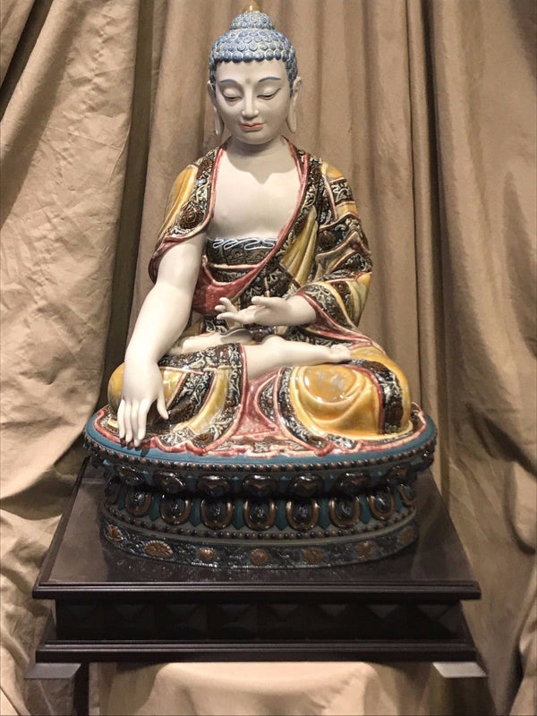 Shakyamuni Buddha Earth Porcelain Figurine By José J. Malavia, 2007 - $20K VALUE w/ CoA!*