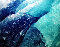 "CHRISTOPHER BURKETT, ""Blue Glacial Ice, Alaska"", Cibachrome Photograph, c. 1993 - $5K Value*"