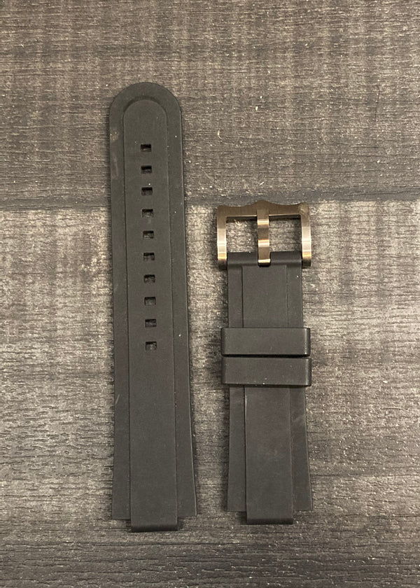 TUDOR Black Rubber Watch Strap - $700 APR VALUE w/ CoA! ✓