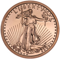 1 oz Saint Gaudens Copper Round (New)