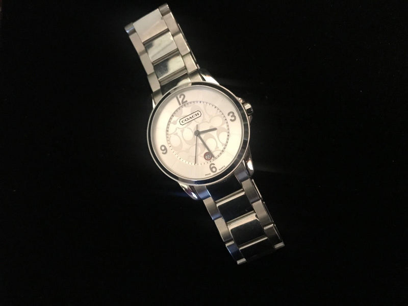 Coach SS Men's Watch - Quartz, Silver Dial, Date Display, w/COA $1K Apr.