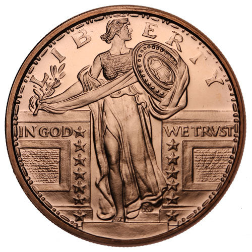 1 oz Standing Liberty Copper Round (New)