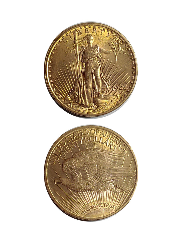 1922 ST. GAUDENS Gold Double Eagle - $3K APR Value w/ CoA! ★✓
