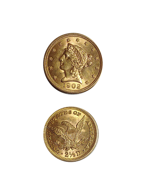 United States 1902 GOLD QUARTER EAGLE LIBERTY - $1K APR Value w/ CoA! ★✓