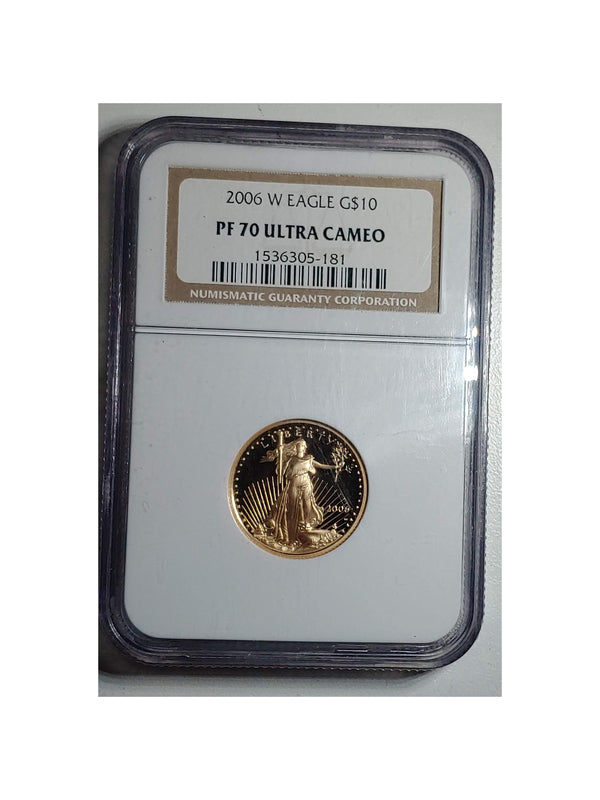 2006-W West Point St. Gaudens Gold $10 Proof-70 Ultra Cameo - $900 APR Value w/ CoA! ★✓