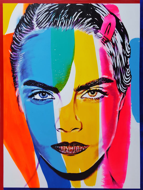 Jack Graves III, 'Cara Delevingne Icon X', Icon Series 2019 - Apr Value: $5K*