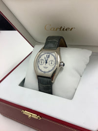 BRAND NEW CARTIER DIABOLO IN 18K WHITE GOLD WITH A GREEN CROCODILE-STYLE LEATHER STRAP, WATER RESISTANT, 18K WHITE GOLD BUCKLE - COMES NEW IN BOX TWO-YEAR INTERNATIONAL WARRANTY - $50,000.00 VALUE