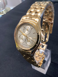 CARTIER 18K Yellow Gold Water Resistant Chronograph - New in Box - $50K Appraisal Value!