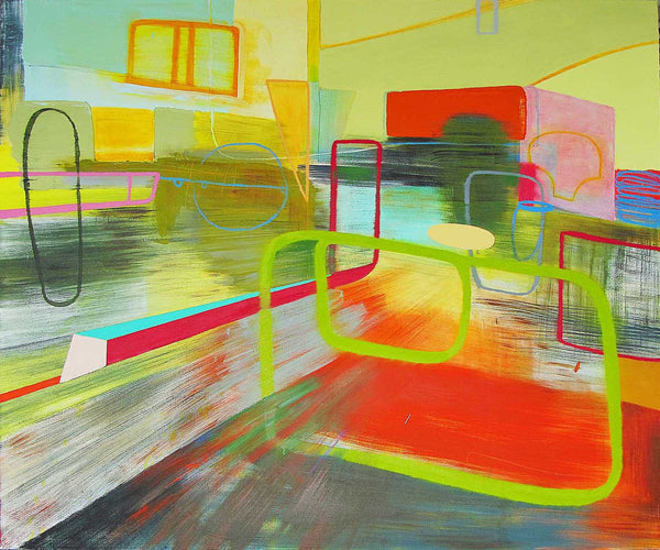 Jean Arnold, 'Colfax East: Attention,' Urban Motion Series, Oil on Canvas, Unframed, 2009-13 - Appraisal Value: $20K