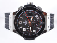 HUBLOT Big Bang Champion de France LTD ED Carbon Fiber Dial Skeleton Back Chronograph in SS & Titanium  - $50K VALUE