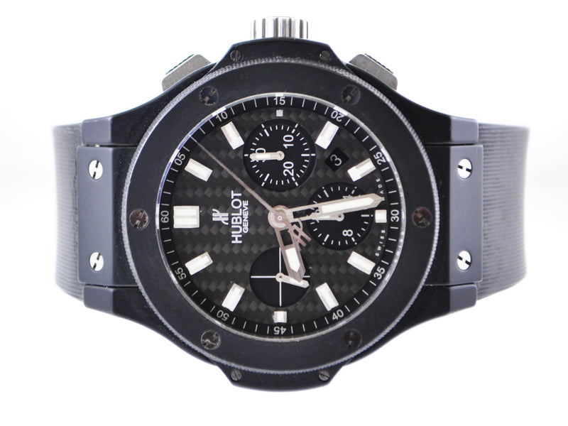 HUBLOT Big Bang Wristwatch Carbon Fiber Dial Skeleton Back Chronograph in Ceramic & Titanium - $40K VALUE