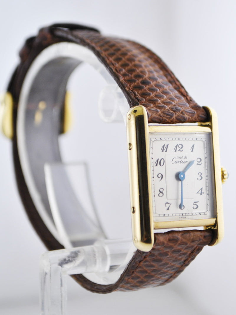 CARTIER Tank 18K Yellow Gold Triple Signed Rectangle Wristwatch - $12K VALUE!