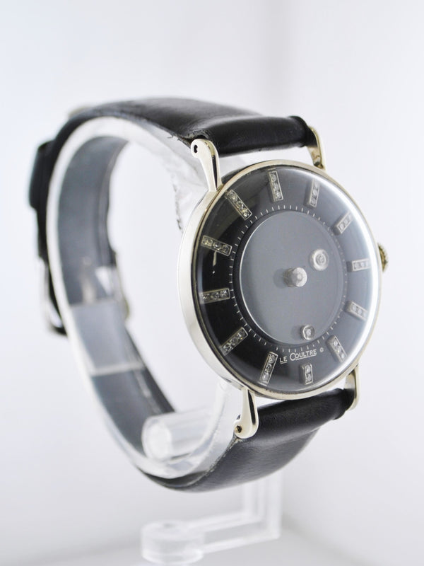 1960's Vacheron Constantin & LeCoultre Galaxy Mystery Dial Diamond Solid White Gold Leather Strap - $20K VALUE