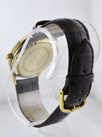 1950's Vintage Cartier Round Automatic Wristwatch on Leather Strap in Solid Yellow Gold - $20K VALUE