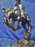1890's Carl Kauba Rodeo Rider Bronze Sculpture Rare Western Cowboy & Horse Signed $6K VALUE