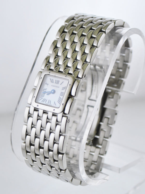 Cartier Ruban 2420 Square Wristwatch Pearl Dial Water Resistant Bracelet in Stainless Steel - $10K VALUE