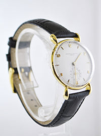1950's Vacheron Constantin Vintage Wristwatch in 18 Karat Yellow Gold on Croco Design Strap - $30K VALUE