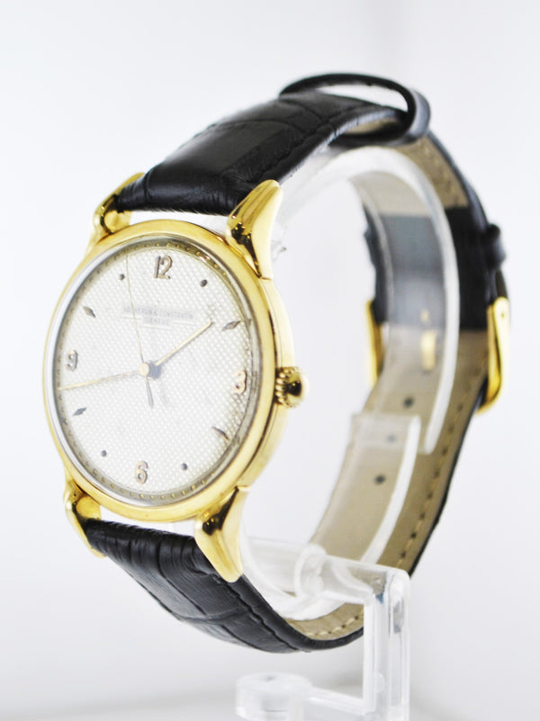1950's Vacheron Constantin Round Wristwatch 18 Karat Yellow Gold on Crocodile Leather Design Strap - $40K VALUE