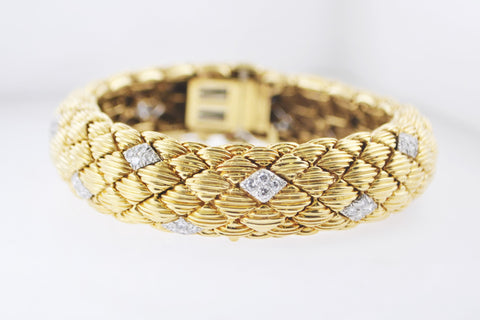 1950s David Webb Signed Bracelet/Watch in 18K Gold & Platinum - $85K VALUE