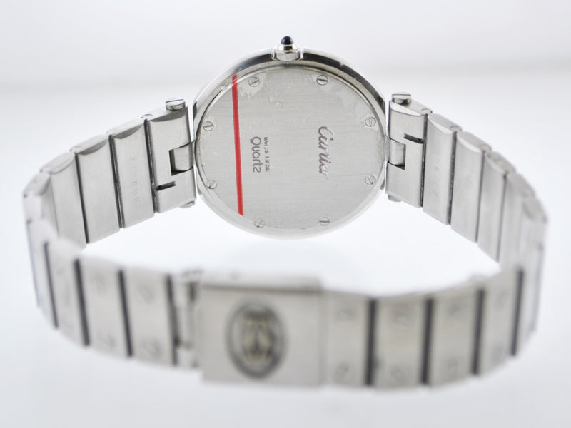 CARTIER Santos Large Round Stainless Steel Quartz Wristwatch w/ Rare Gray Dial - $10K VALUE!