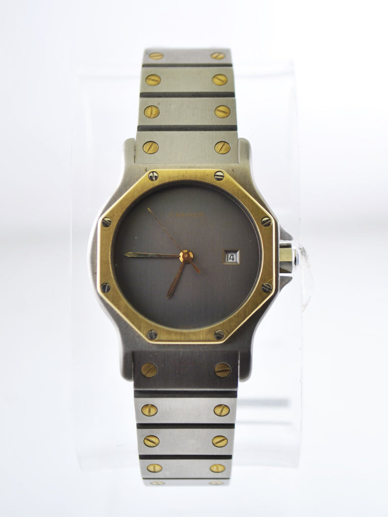 Cartier Santos Two-Tone Octagonal Wristwatch Automatic in Yellow Gold and Stainless Steel - $10K VALUE