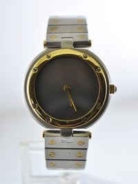 CARTIER Santos Two-Tone 18K YG & SS Round Quartz Wristwatch - $10K VALUE!