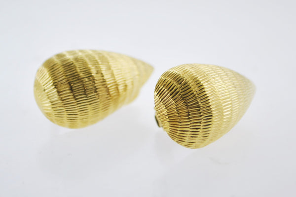 DAVID WEBB Drop Clip Earrings in Platinum & 18K Yellow Gold - $8K VALUE!