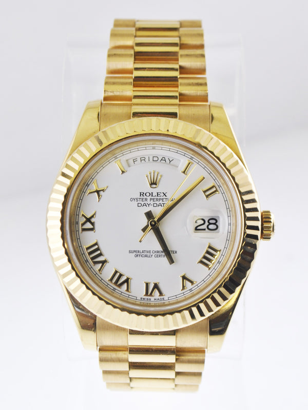 Rolex Oyster Perpetual Day-Date Rare 41 mm Wristwatch in 18 Karat Yellow Gold - $50K VALUE