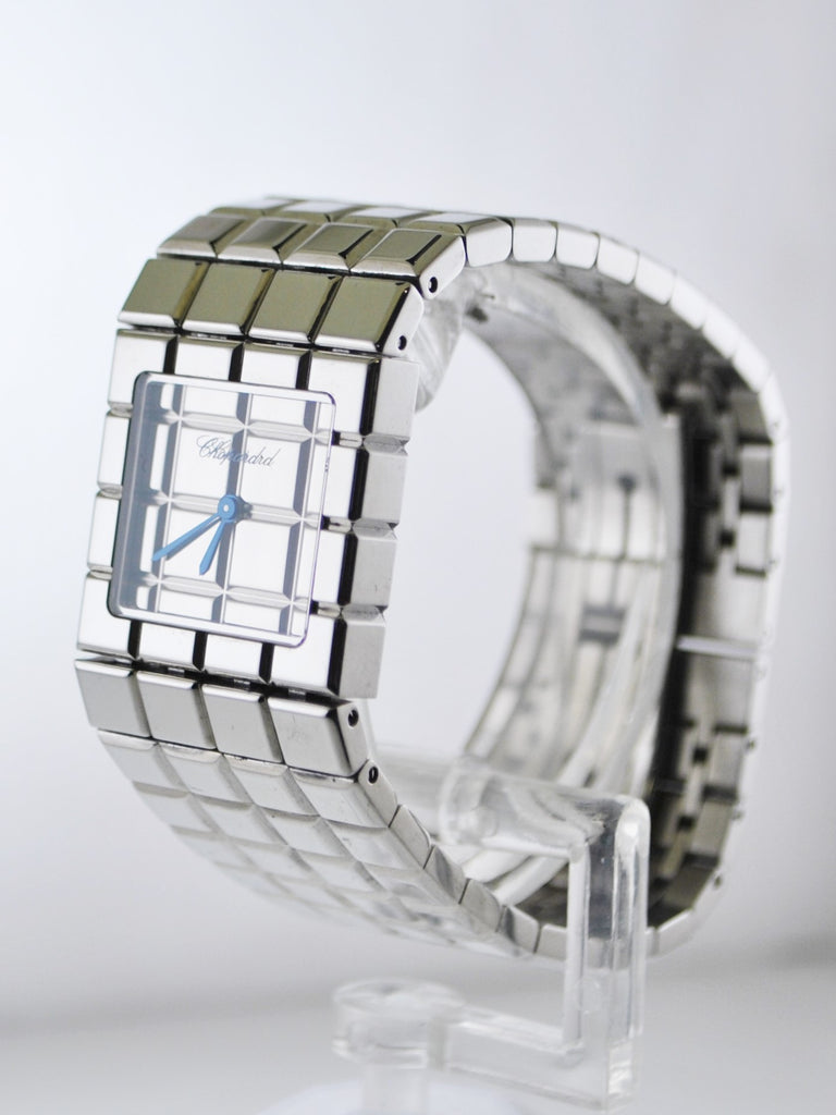 Vintage Chopard Ice Cube Ladies Rectangle Wristwatch Bracelet in Stainless Steel - $15K VALUE