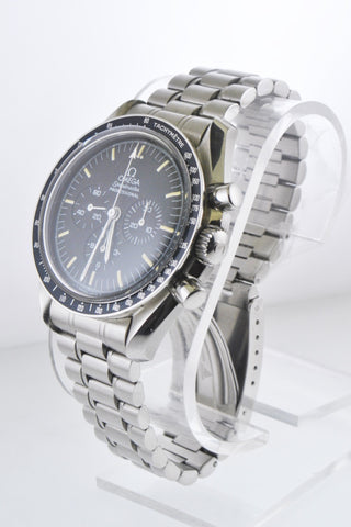 Omega Speedmaster Professional Moonwatch Chronograph Black Dial in Stainless Steel - $10K VALUE