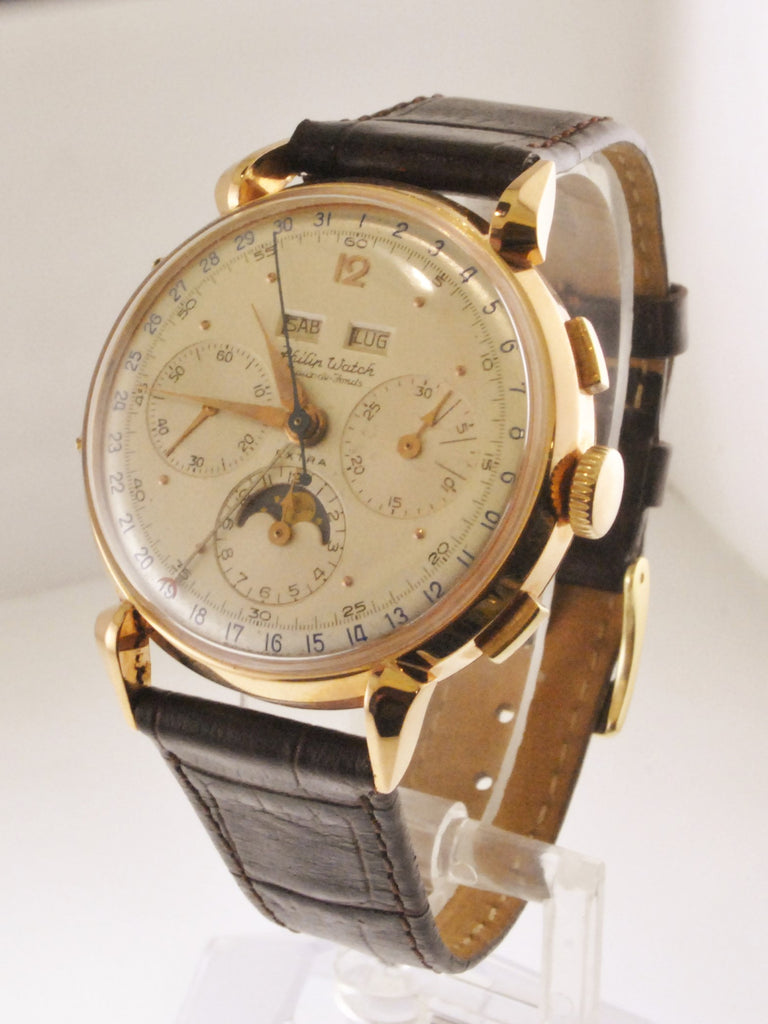 portugieser calendar ardoise image perpetual schaffhausen iwc mens watches dial rose watch gold