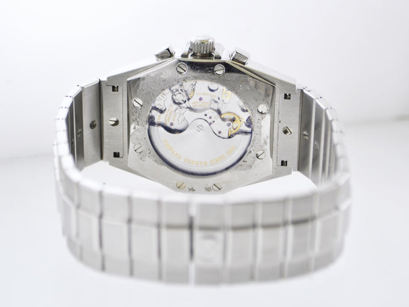CHOPARD St. Moritz Ref.#8386 Wristwatch Chocolate Dial Skeleton Back Stainless Steel Oyster Band - $20K VALUE