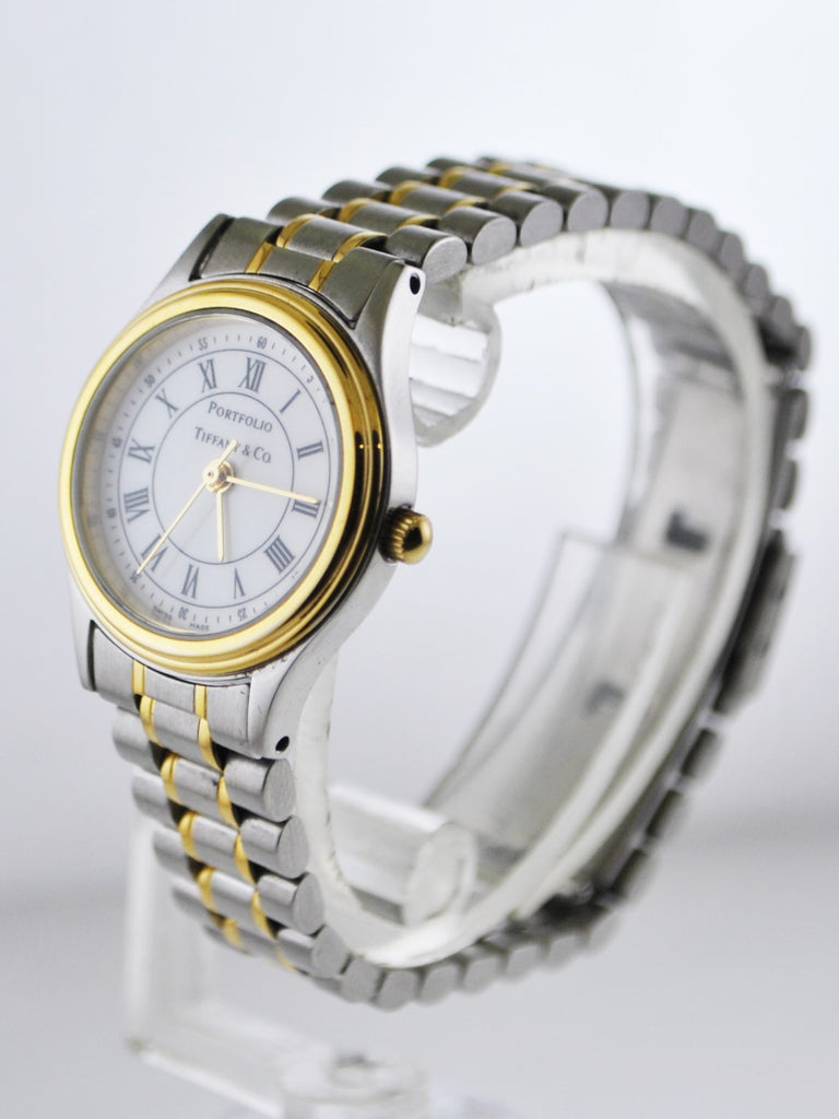 54eea5a9dee58 Portfolio by Tiffany & Co Wristwatch Two-tone Round Case and Bracelet in  Stainless Steel - $3K VALUE
