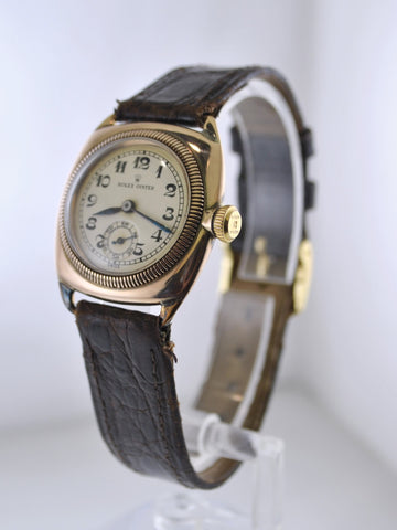 1920's Rolex Oyster Wristwatch Cushion Case in Rose Gold Vintage Extremely Rare Watch - $20K VALUE