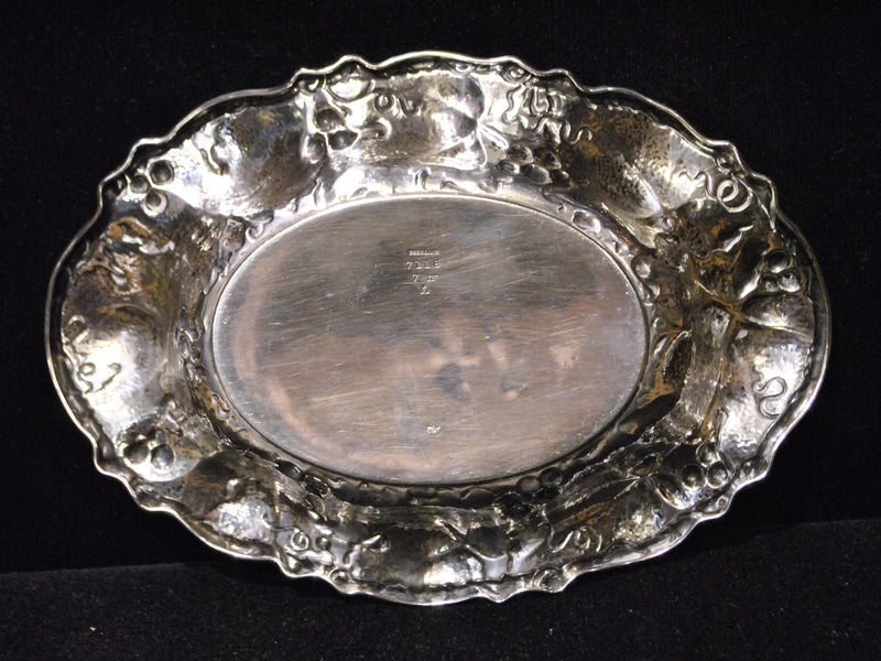 1906 Antique Small Serving Dish, Sterling Silver, Vine Filigree, Whiting Manufacturing Co - $4K VALUE*