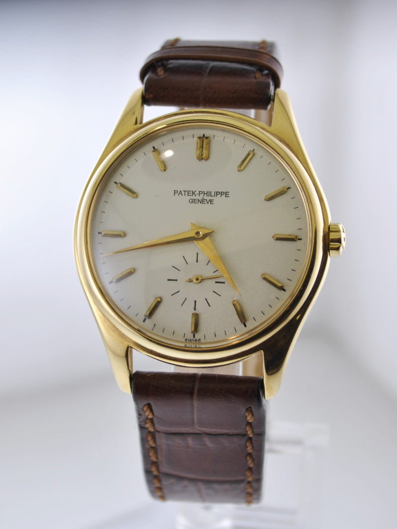 1950s Patek Philippe #2526 1st Automatic Movement Wristwatch in 18K Yellow Gold  - $100K VALUE
