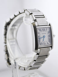 CARTIER Tank Francaise #2300 Stainless Steel Rectangle Wristwatch - $7K VALUE