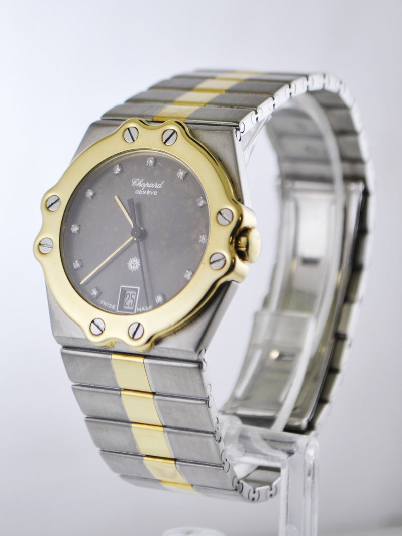 Vintage Chopard St. Moritz Ref.# 8023 Wristwatch Diamond Two-Tone Stainless Steel and Yellow Gold Oyster Band - $20K VALUE