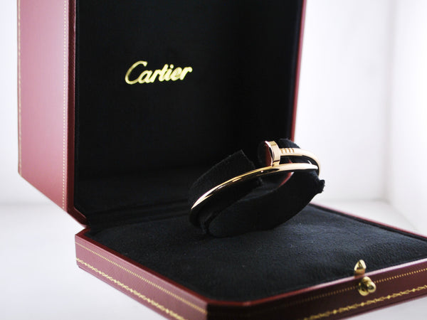 Brand New Cartier Nail Bracelet Bangle 16 mm in 18 Karat Rose Gold w/Original Box - $8K VALUE