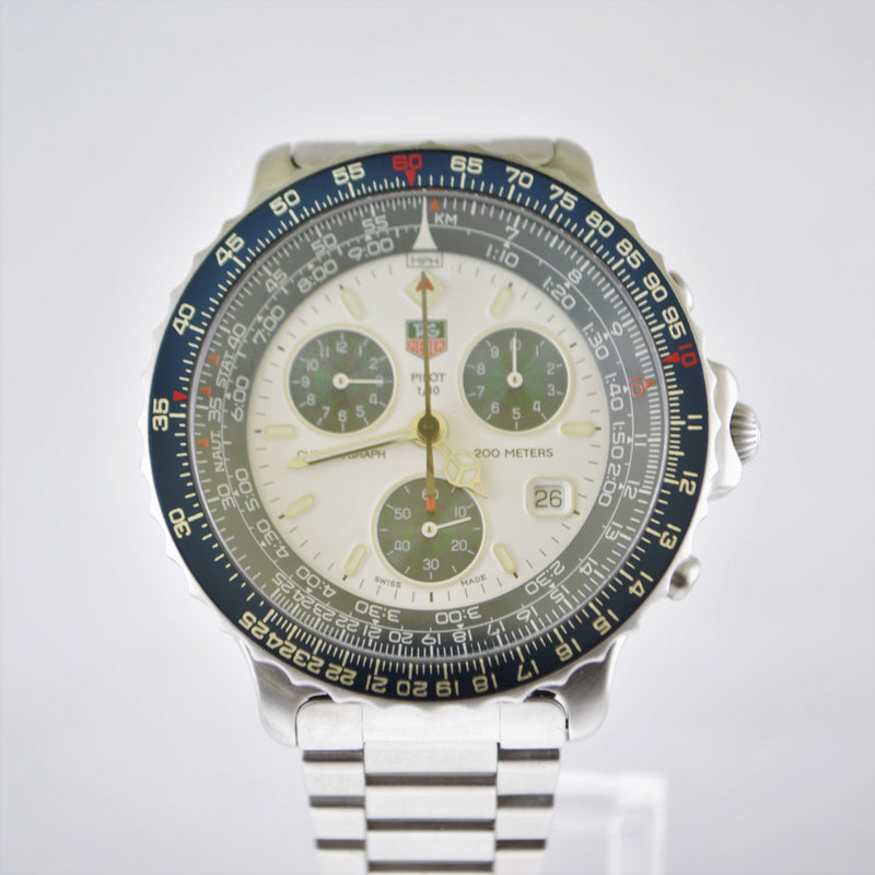 TAG Heuer Pilot Chronograph Men's Wristwatch in SS - $6K VALUE