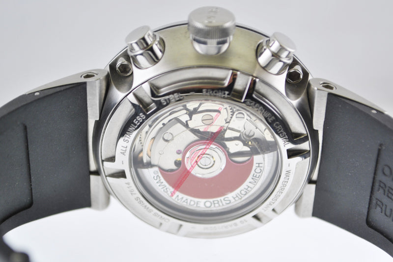 Oris Williams F1 Chronograph Men's Wristwatch in Stainless Steel - $6K VALUE