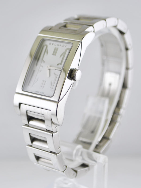 BVLGARI Rare Rettangolo Women's Wristwatch in Stainless Steel - $6K VALUE