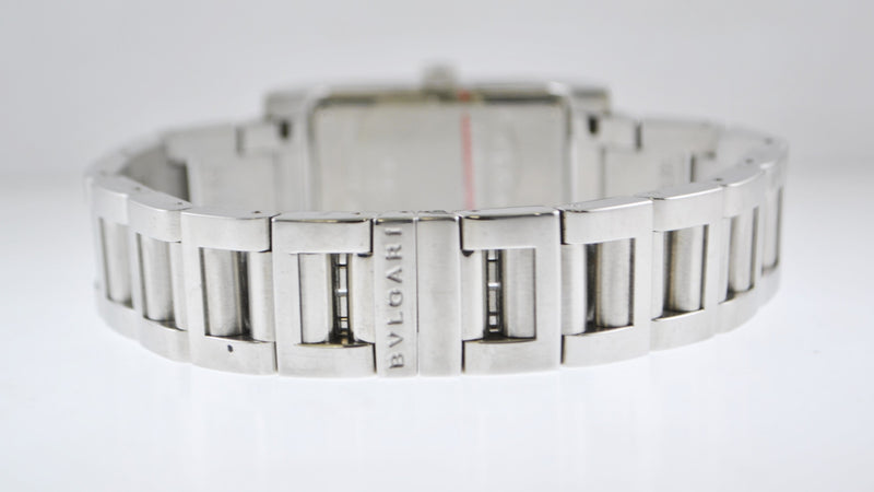 Bulgari (Bvlgari) Rettangolo Women's Wristwatch in Stainless Steel - $6K VALUE