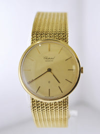 CHOPARD Ultra Thin 18K Yellow Gold Wristwatch on Original Link Band, Ref. #1091 - $30K VALUE