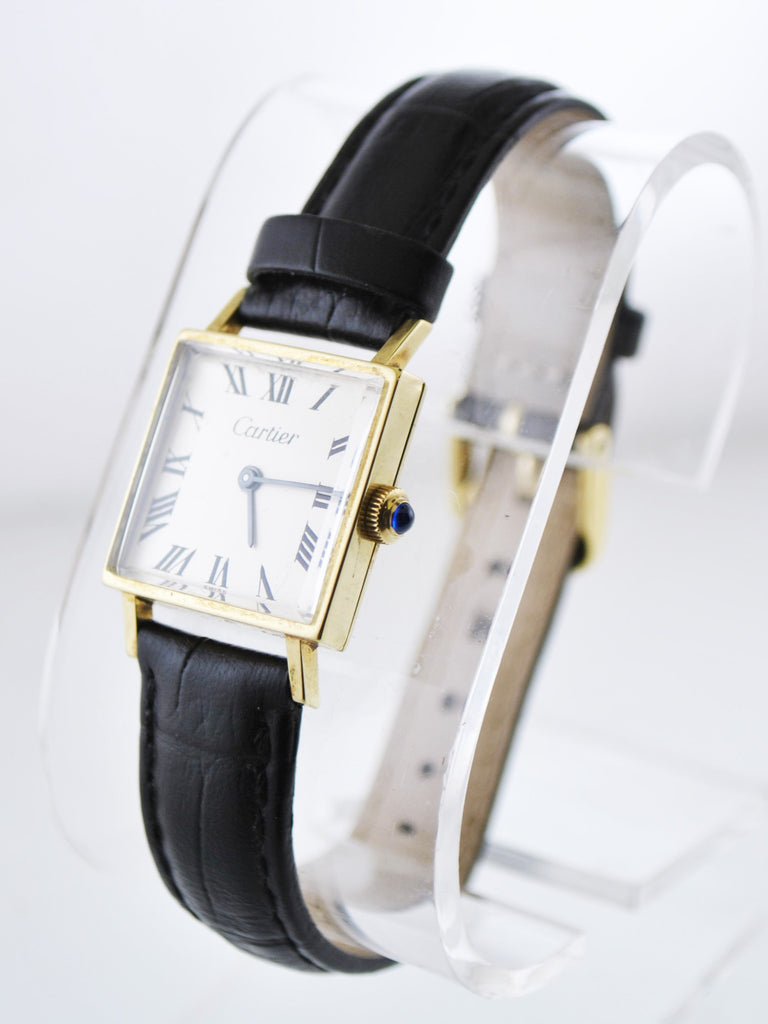 1940's Vintage Cartier Tank Mechanic Square Wristwatch on Solid Yellow Gold - $20K VALUE