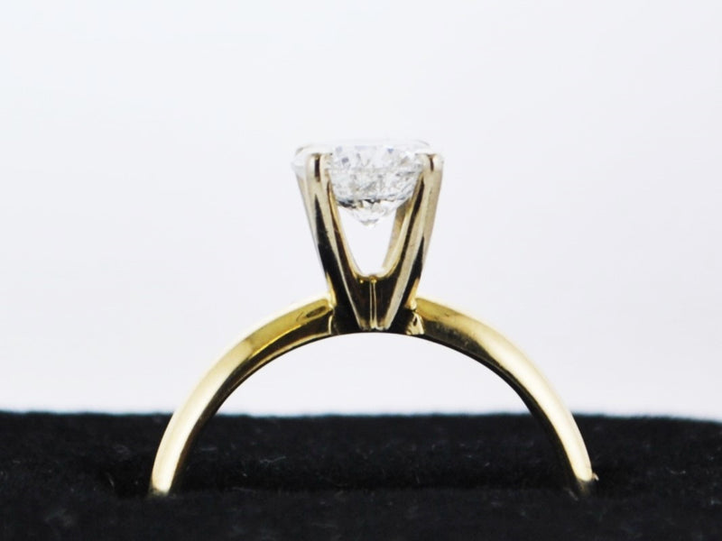 Handmade Engagement Ring Appr. 1.0 Carat Diamond in Solid Yellow Gold- $20K VALUE