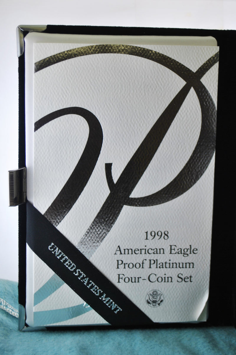 1998 W American Eagle Proof Platinum Four-Coin Set in Original Box - $6K Value w/ CoA! ✓