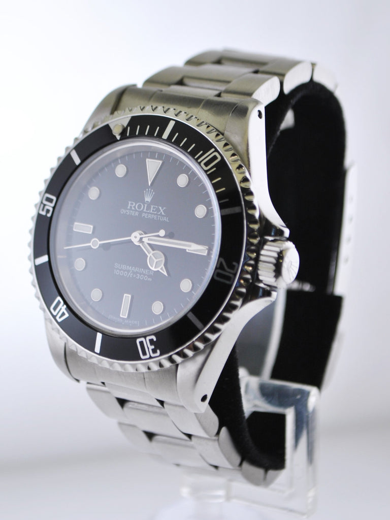 Rolex Submariner Men's Automatic Wristwatch Water Resistant Black Face in Stainless Steel - $13K VALUE