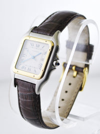 Cartier Santos Two-Tone Square Wristwatch Quartz in Solid Yellow Gold and Stainless Steel - $6K VALUE